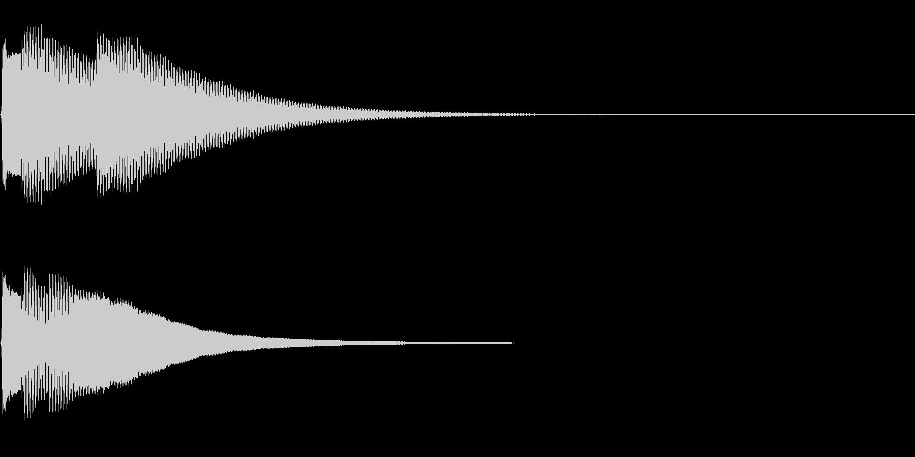 キラーン(なにか発見した時の音)の未再生の波形