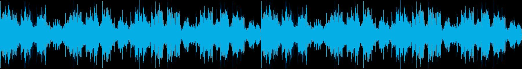 緊張感のあるテクノ風サウンドの再生済みの波形