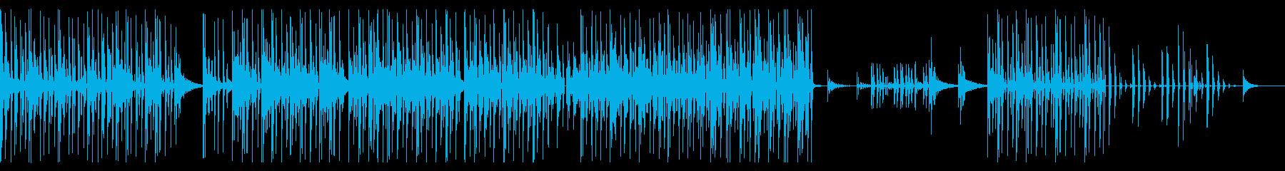 近未来的でクールなシンセとビートの再生済みの波形