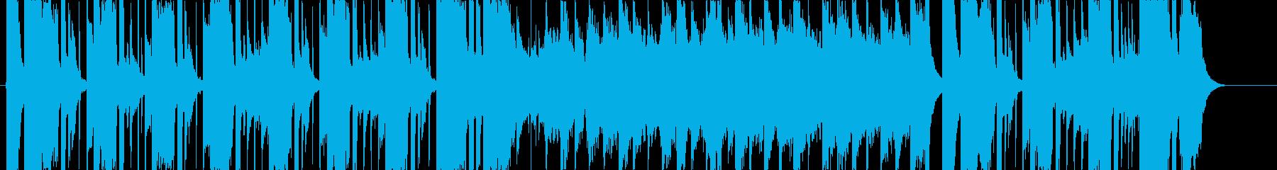 街を闊歩するイメージのBGMの再生済みの波形