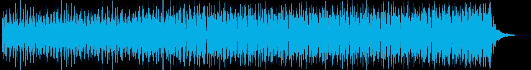 エレクトロ風のBGMの再生済みの波形