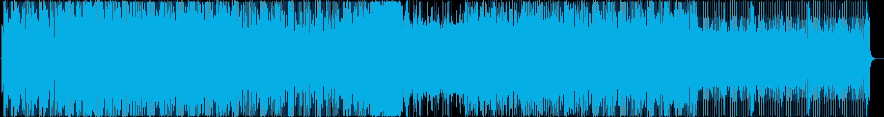 EDM風  本気を感じるBGMの再生済みの波形