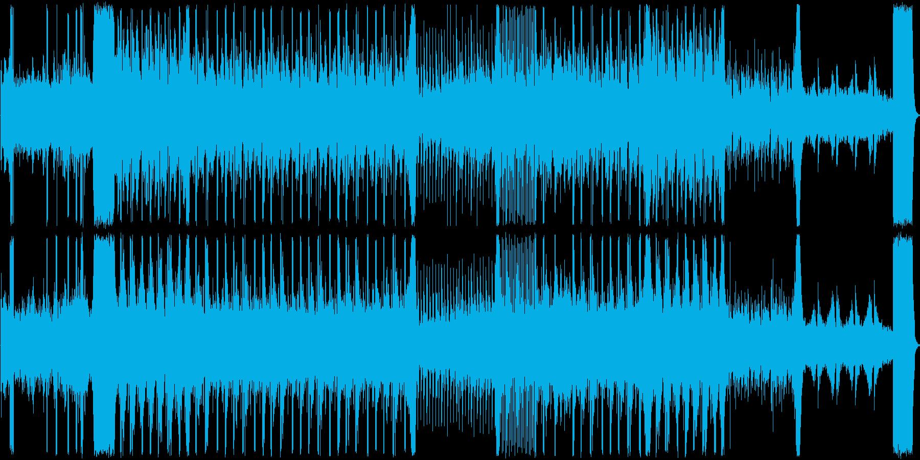 ノイズを使った緊張感のあるホラーな曲の再生済みの波形