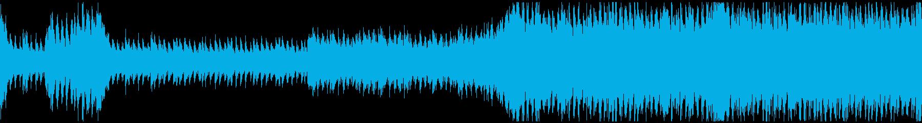 勇壮なオーケストラ戦闘曲の再生済みの波形
