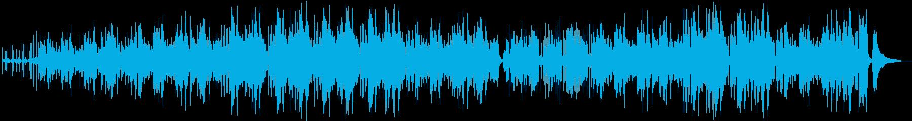 ラテンのリズムでpf、ギターなどがメインの再生済みの波形