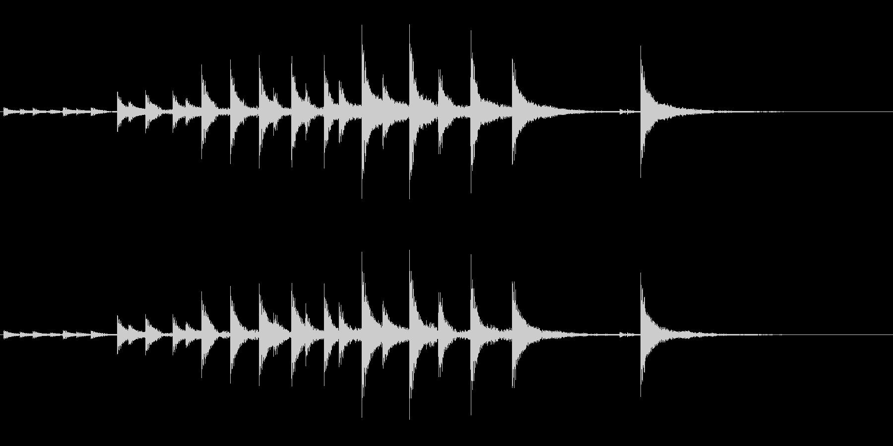 和太鼓の締太鼓のフレーズ音+FXの未再生の波形