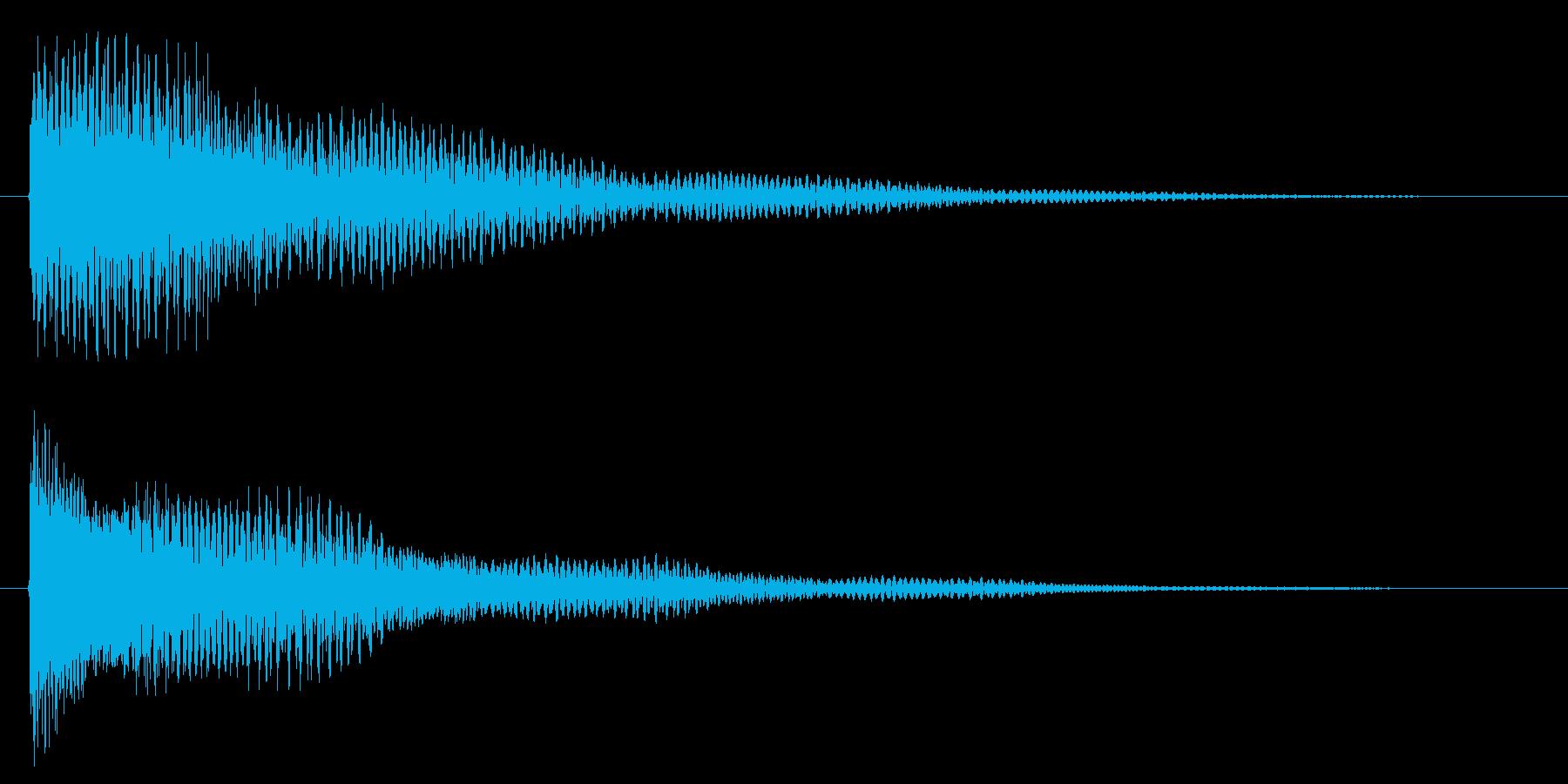 ティーンの再生済みの波形