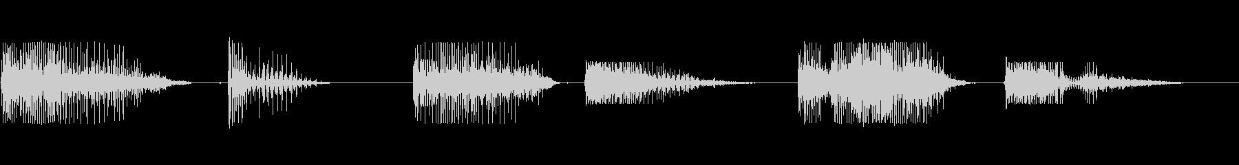 男のいびき(口を開けたまま)の未再生の波形