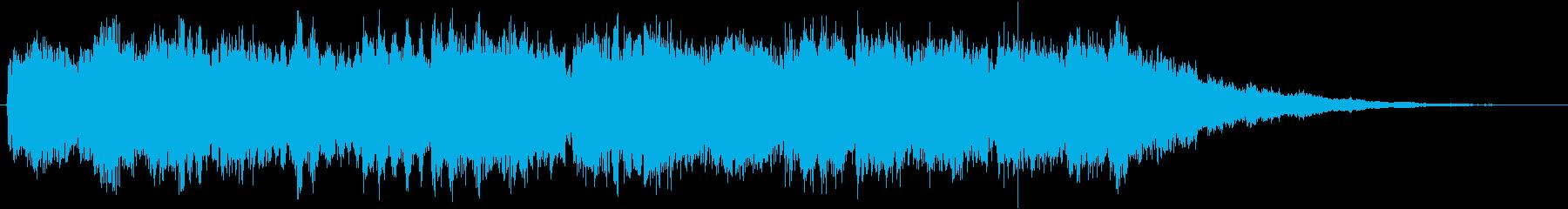 ティトンティトン・・・上がっていくベル音の再生済みの波形
