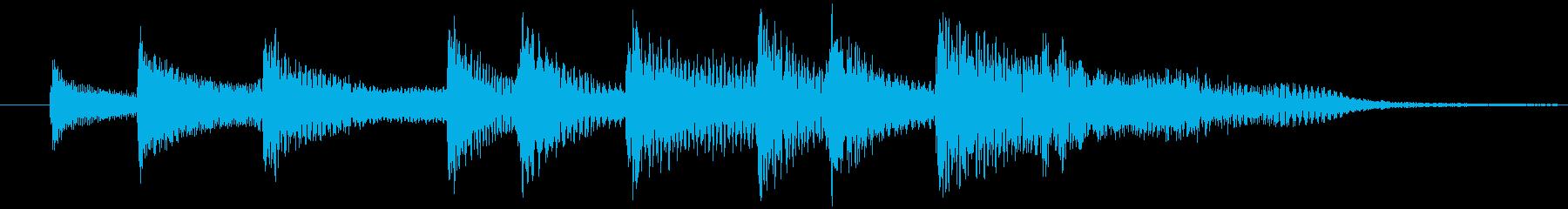 高まる不安・恐怖の効果音の再生済みの波形