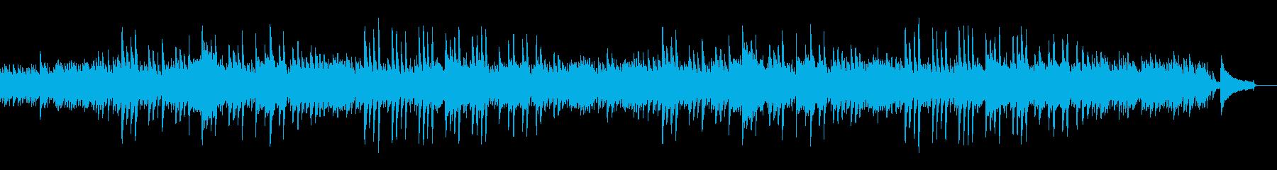 のどかで爽やかな、少し感動的なピアノ曲の再生済みの波形