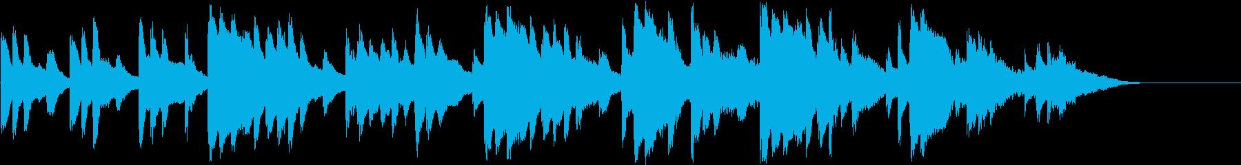 切ないシーンのRPG系オーケストラBGMの再生済みの波形