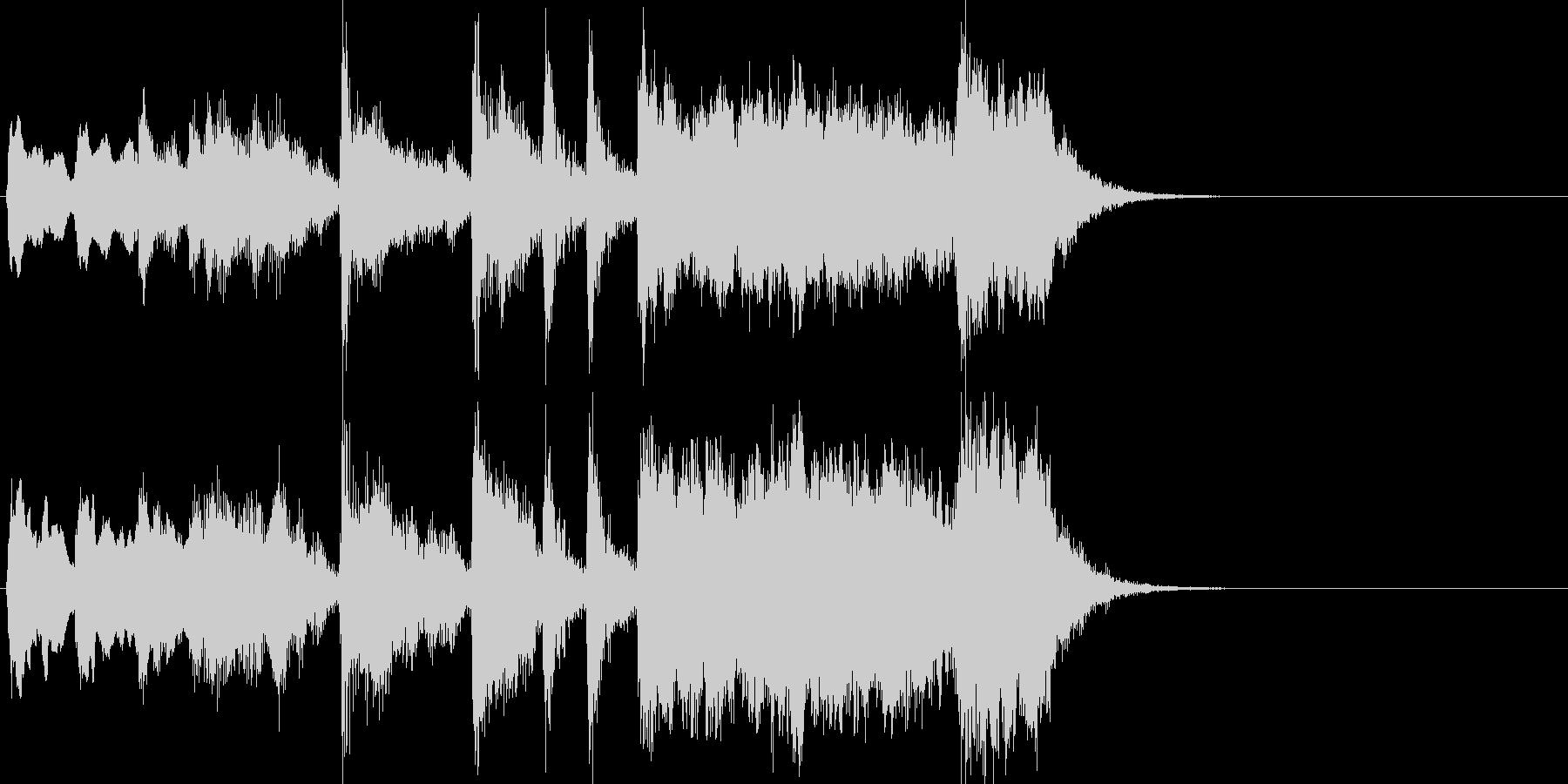 威風堂々っぽい金管ファンファーレの未再生の波形