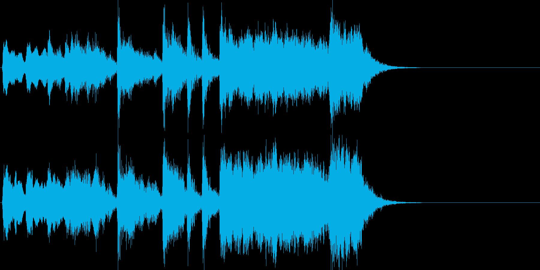 威風堂々っぽい金管ファンファーレの再生済みの波形