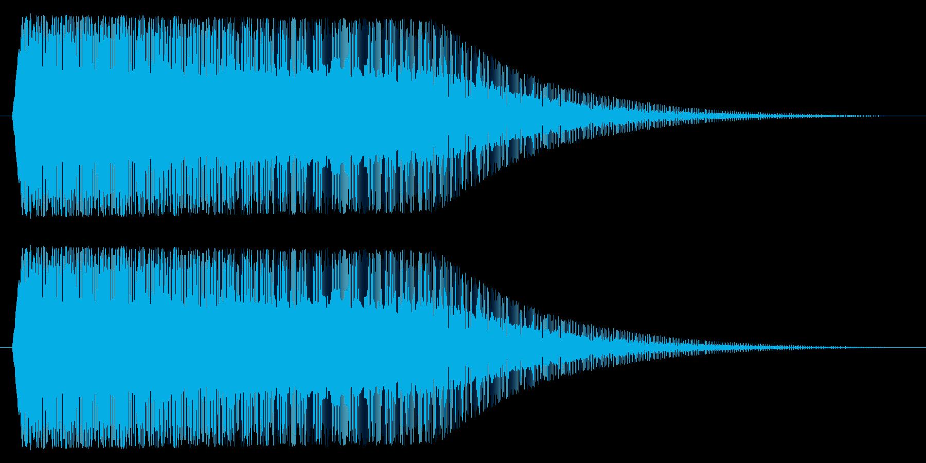 下降/パワーダウン/メーターの再生済みの波形