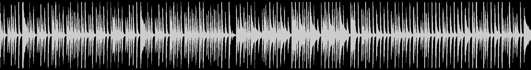 ほのぼのとした日常のピアノ曲(ループ可)の未再生の波形