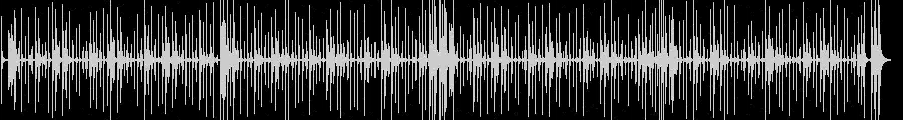 軽快なチャチャチャのリズム 生演奏の未再生の波形