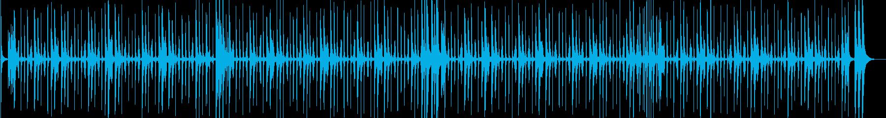 軽快なチャチャチャのリズム 生演奏の再生済みの波形