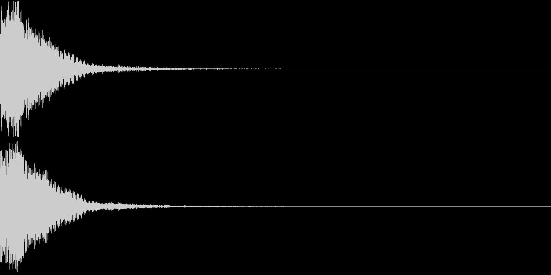 刀 剣 カキーン シャキーン 目立つ26の未再生の波形