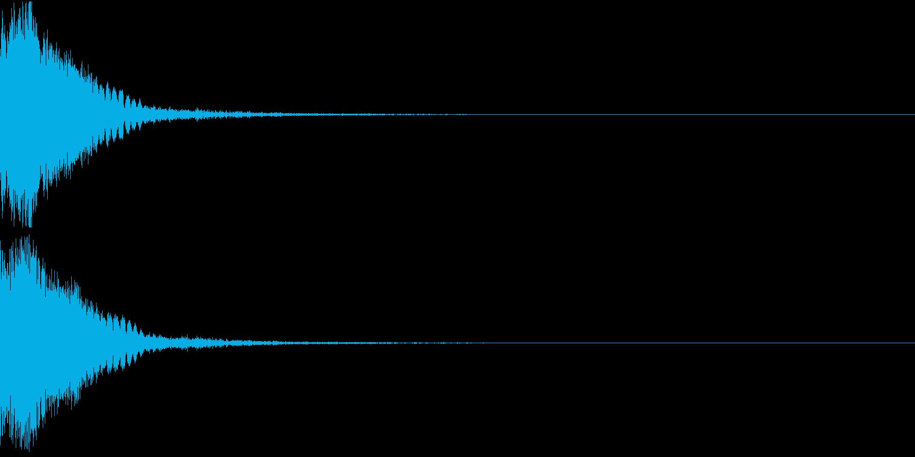 刀 剣 カキーン シャキーン 目立つ26の再生済みの波形
