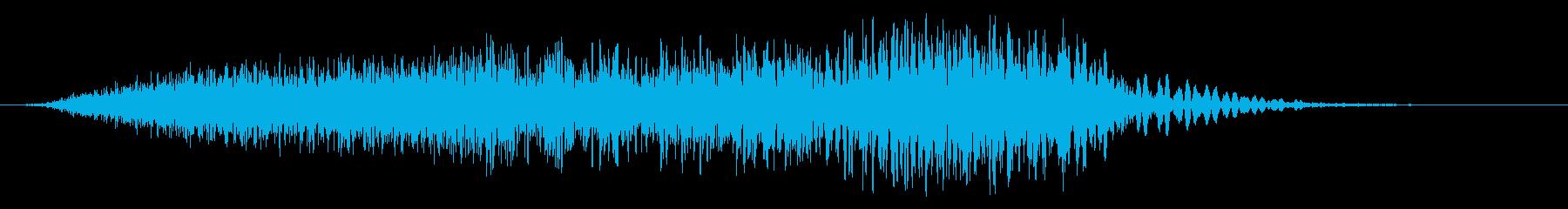 強力なオープニングラッシュウーッシュの再生済みの波形