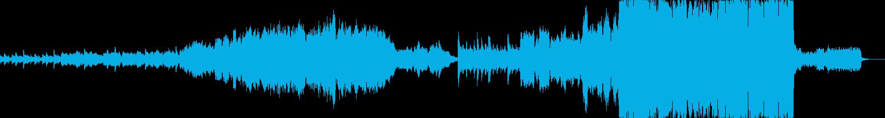 哀しいオーケストラ曲の再生済みの波形