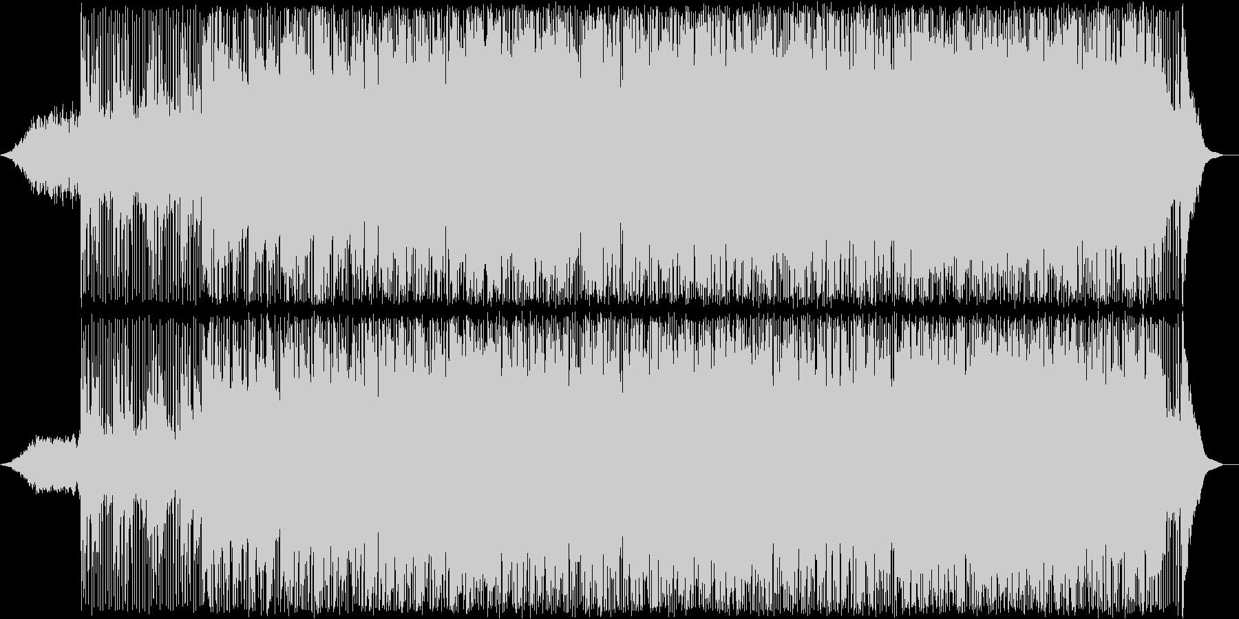 軽快なリズムのアンビエントの未再生の波形