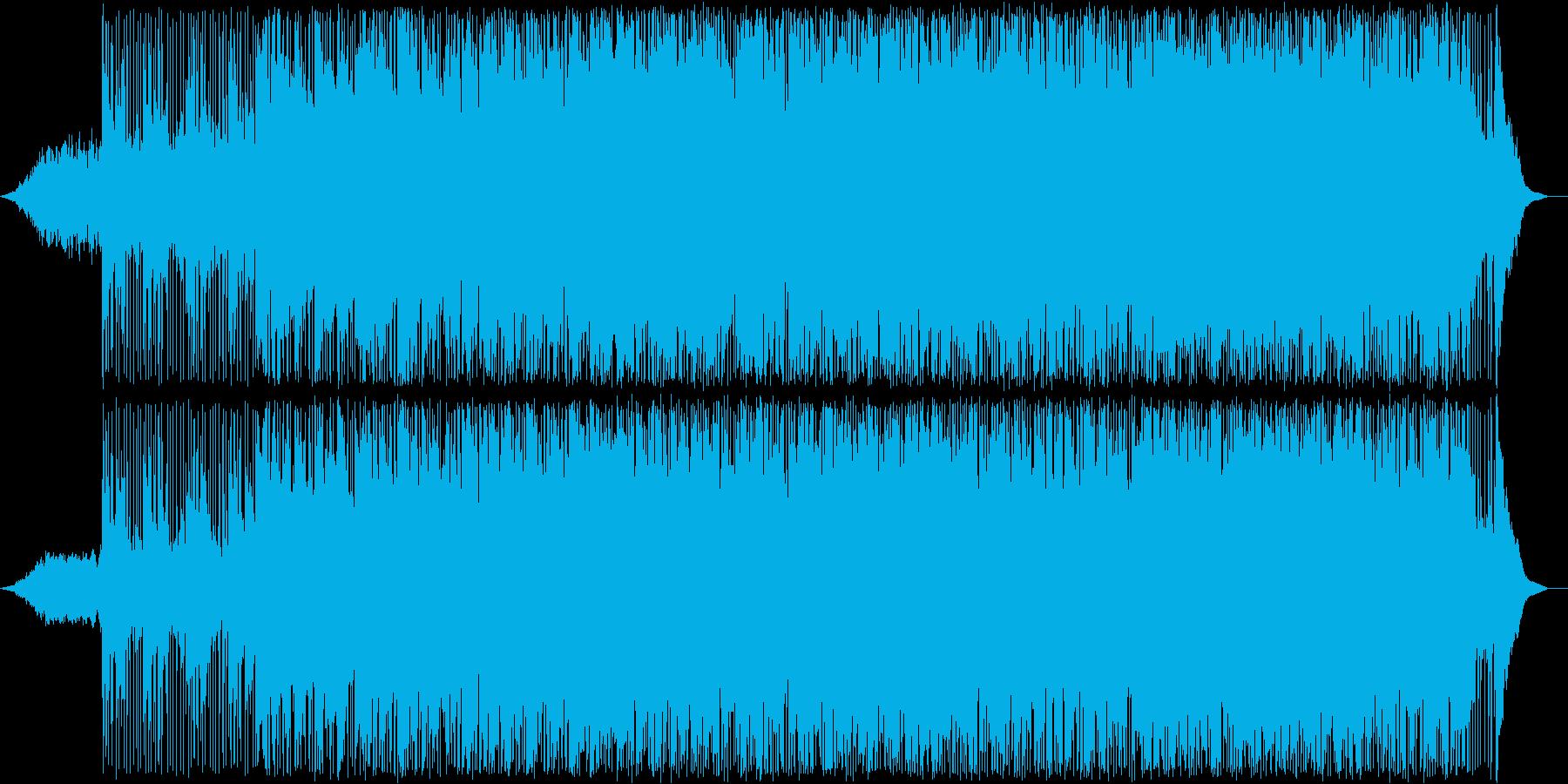 軽快なリズムのアンビエントの再生済みの波形