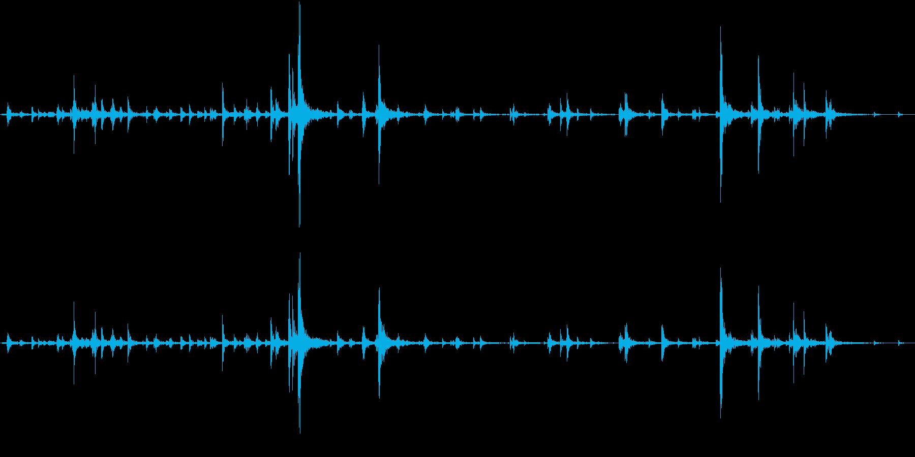 【生録音】弁当・惣菜パックの音 8の再生済みの波形
