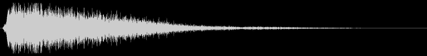 処理された金属エアバーストの未再生の波形