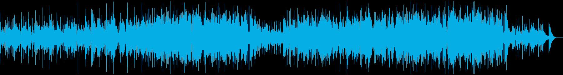 穏やかなアコースティックバンドのポップスの再生済みの波形