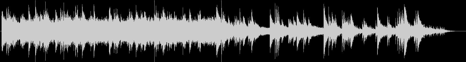 癒し効果抜群のヒーリング的ピアノ曲の未再生の波形