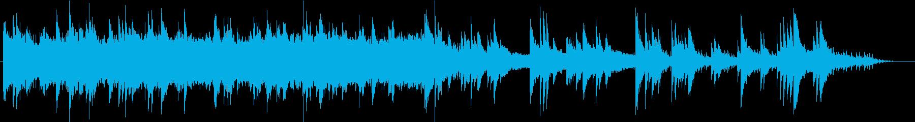 癒し効果抜群のヒーリング的ピアノ曲の再生済みの波形
