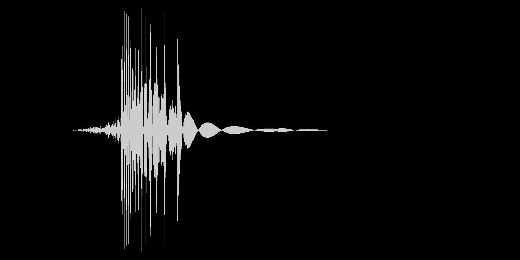 ゲーム(ファミコン風)ヒット音_041の未再生の波形
