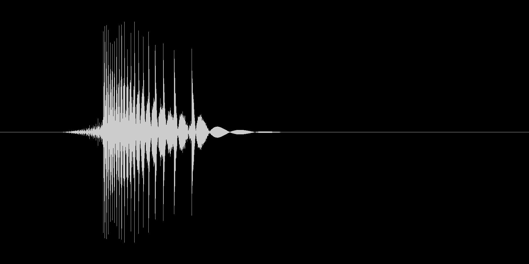 ゲーム(ファミコン風)ヒット音_045の未再生の波形