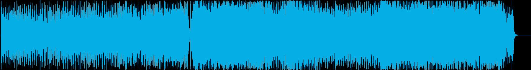 事件や緊急事態発生の雰囲気のあるBGMの再生済みの波形