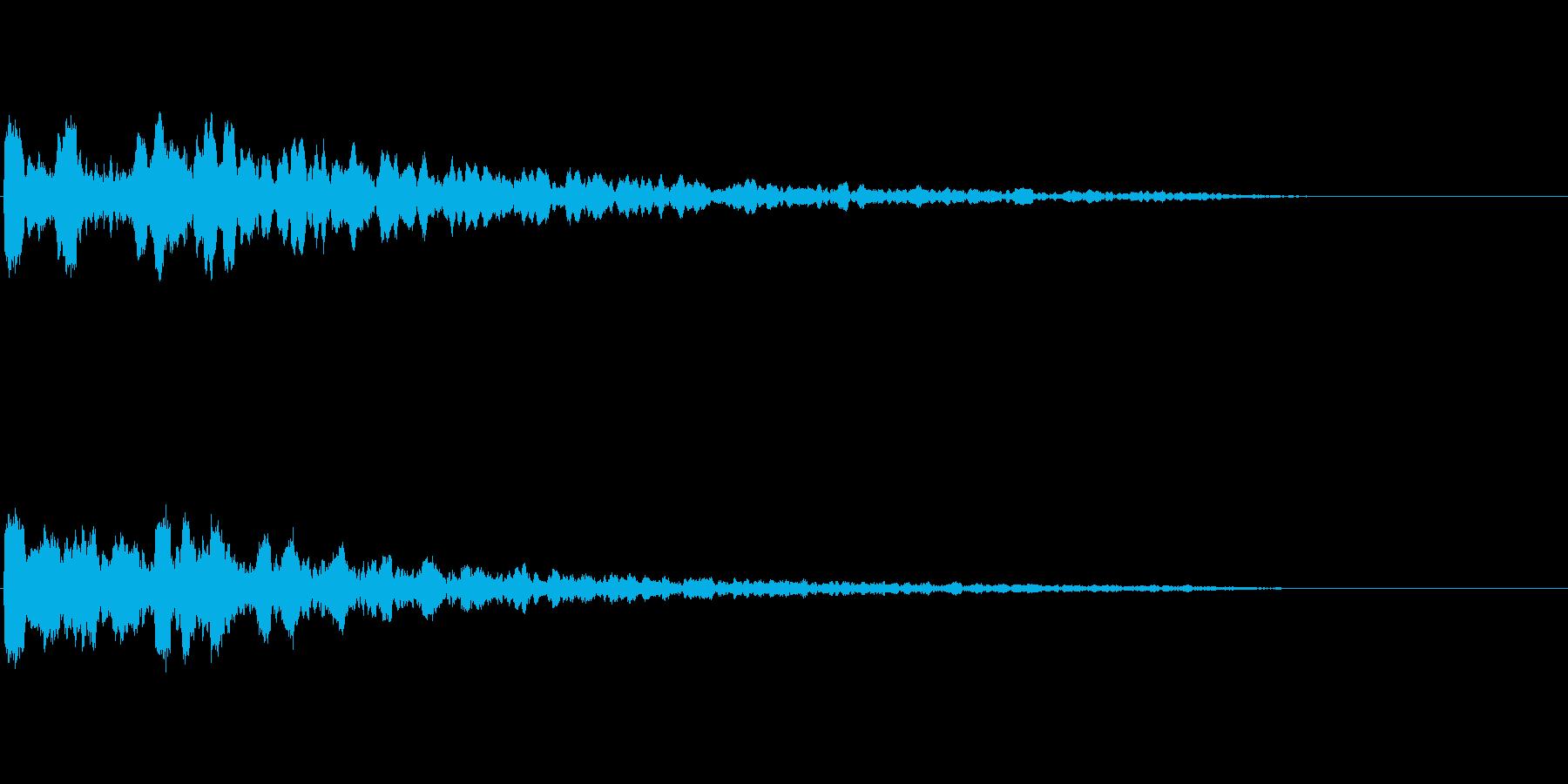 緊迫感を出すコーン音の再生済みの波形
