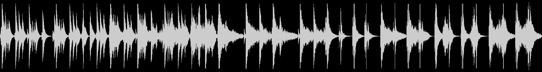 ゆったり静かめな和楽器の曲の未再生の波形
