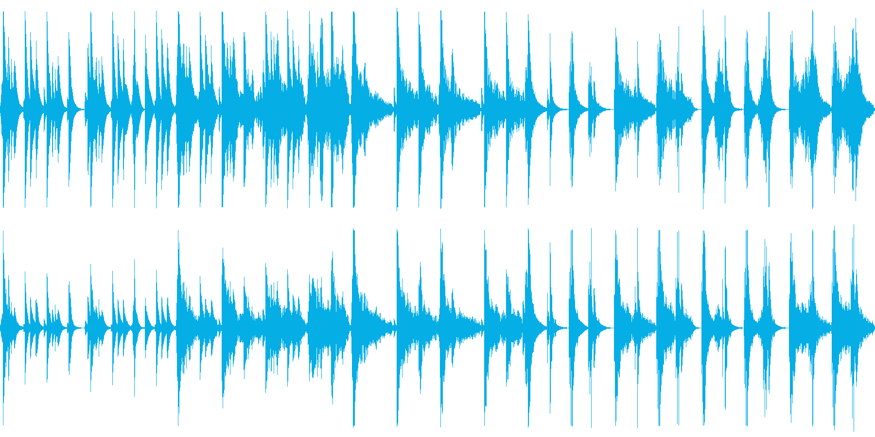 ゆったり静かめな和楽器の曲の再生済みの波形