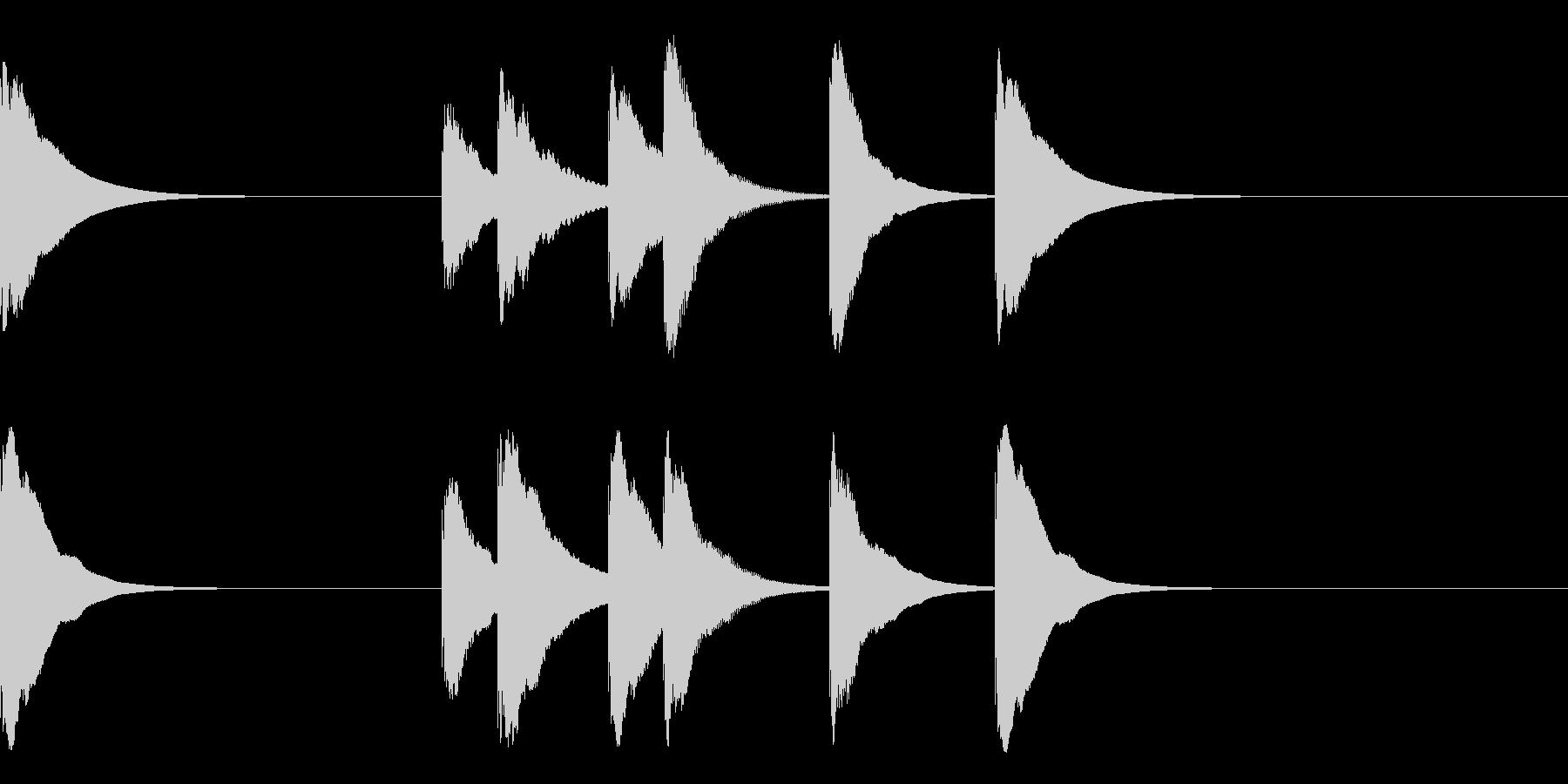 カレーがおいしかった時のジングル3秒の未再生の波形