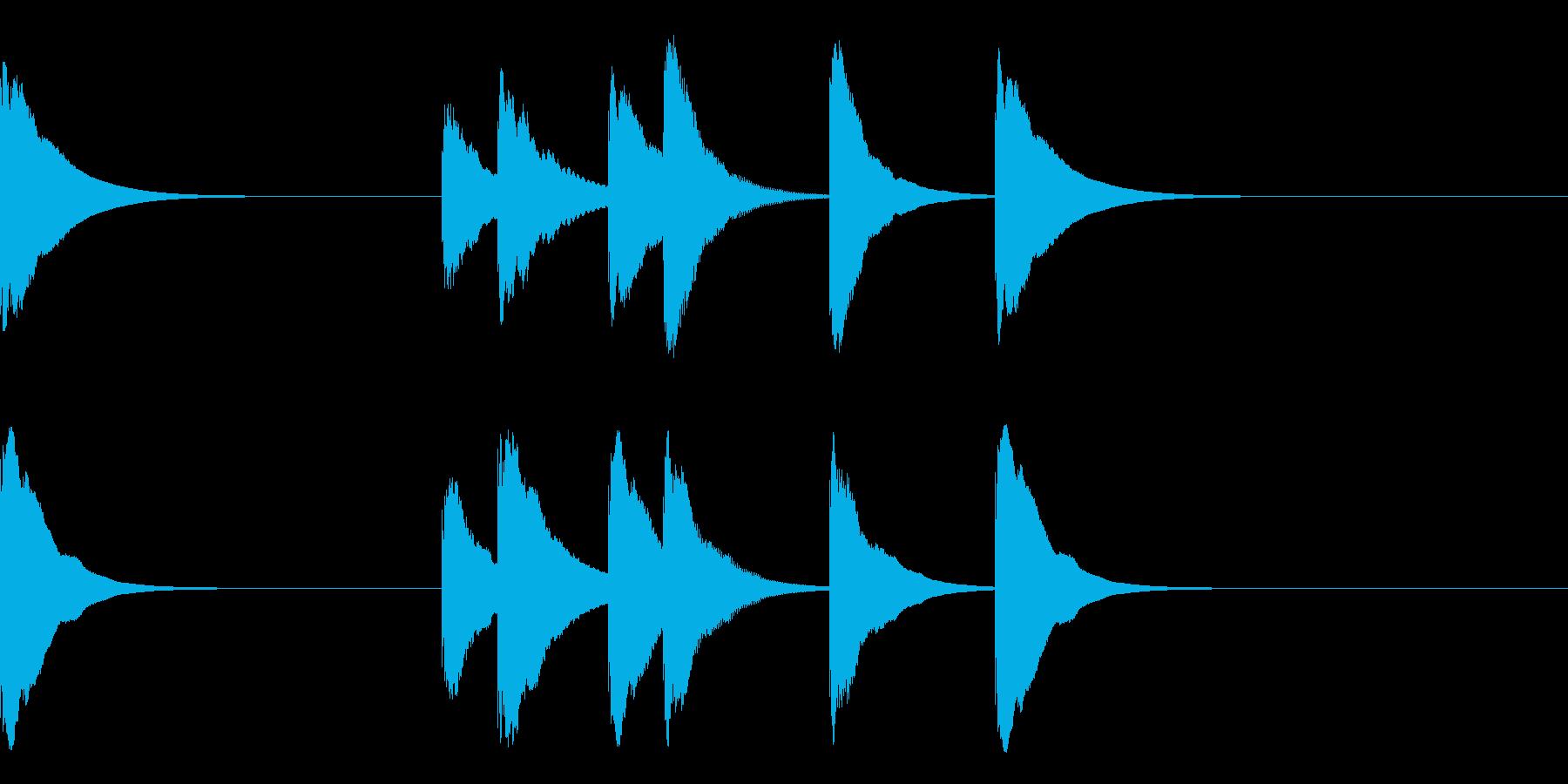 カレーがおいしかった時のジングル3秒の再生済みの波形