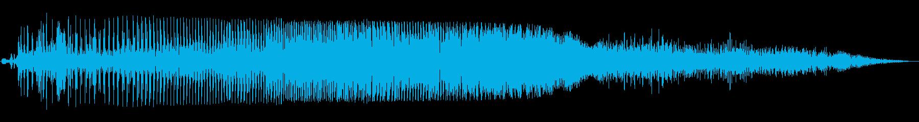 ブ〜ブル〜ン(オートバイのエンジン音)の再生済みの波形