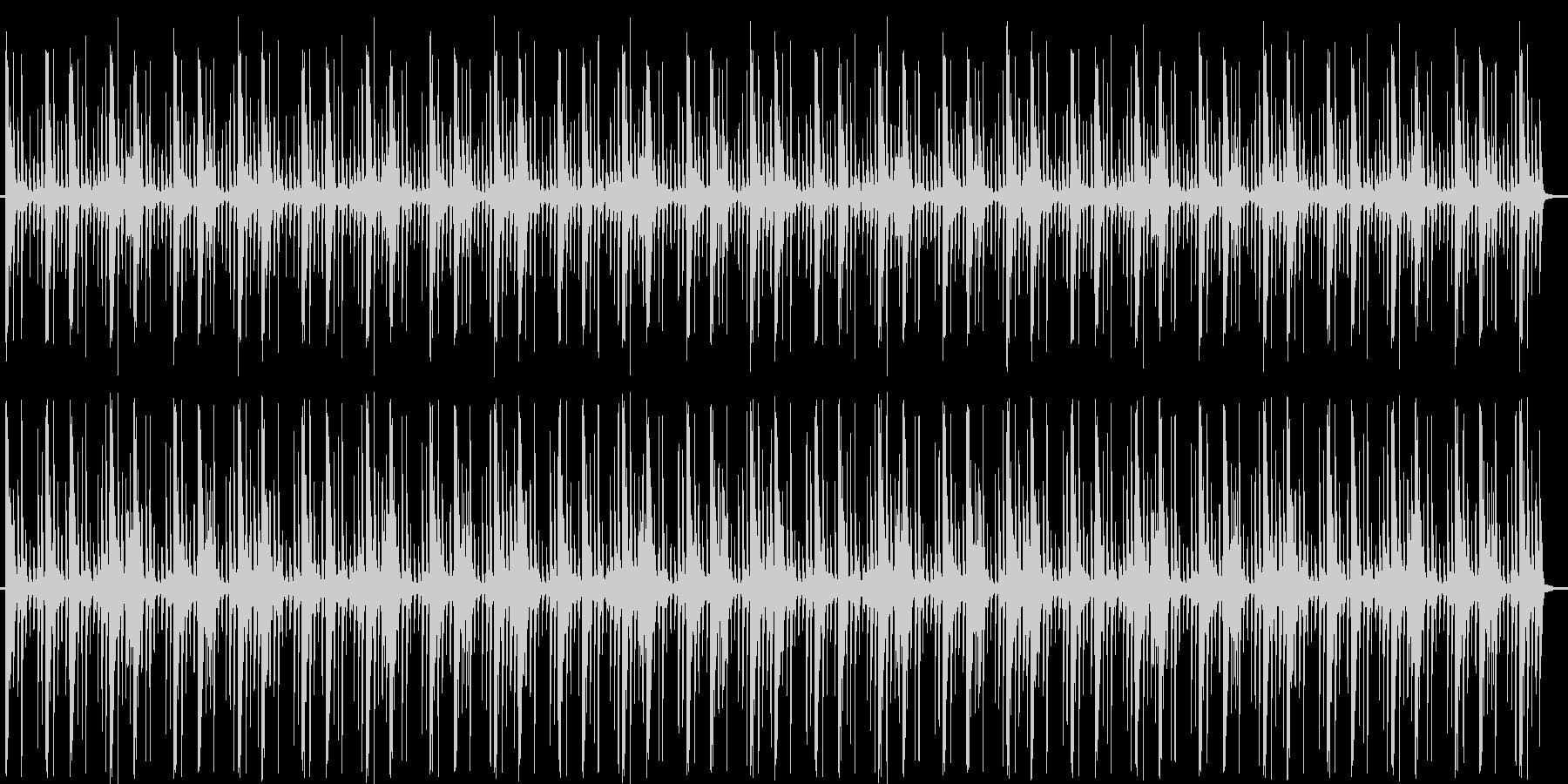 リズミカルでおしゃれなポップスの未再生の波形