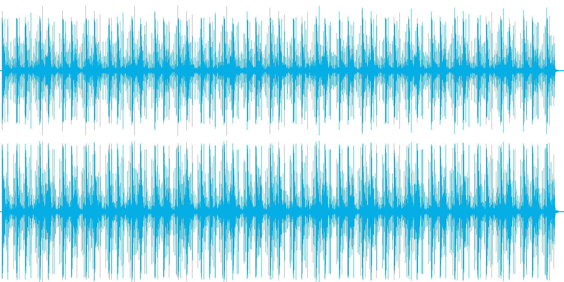 リズミカルでおしゃれなポップスの再生済みの波形