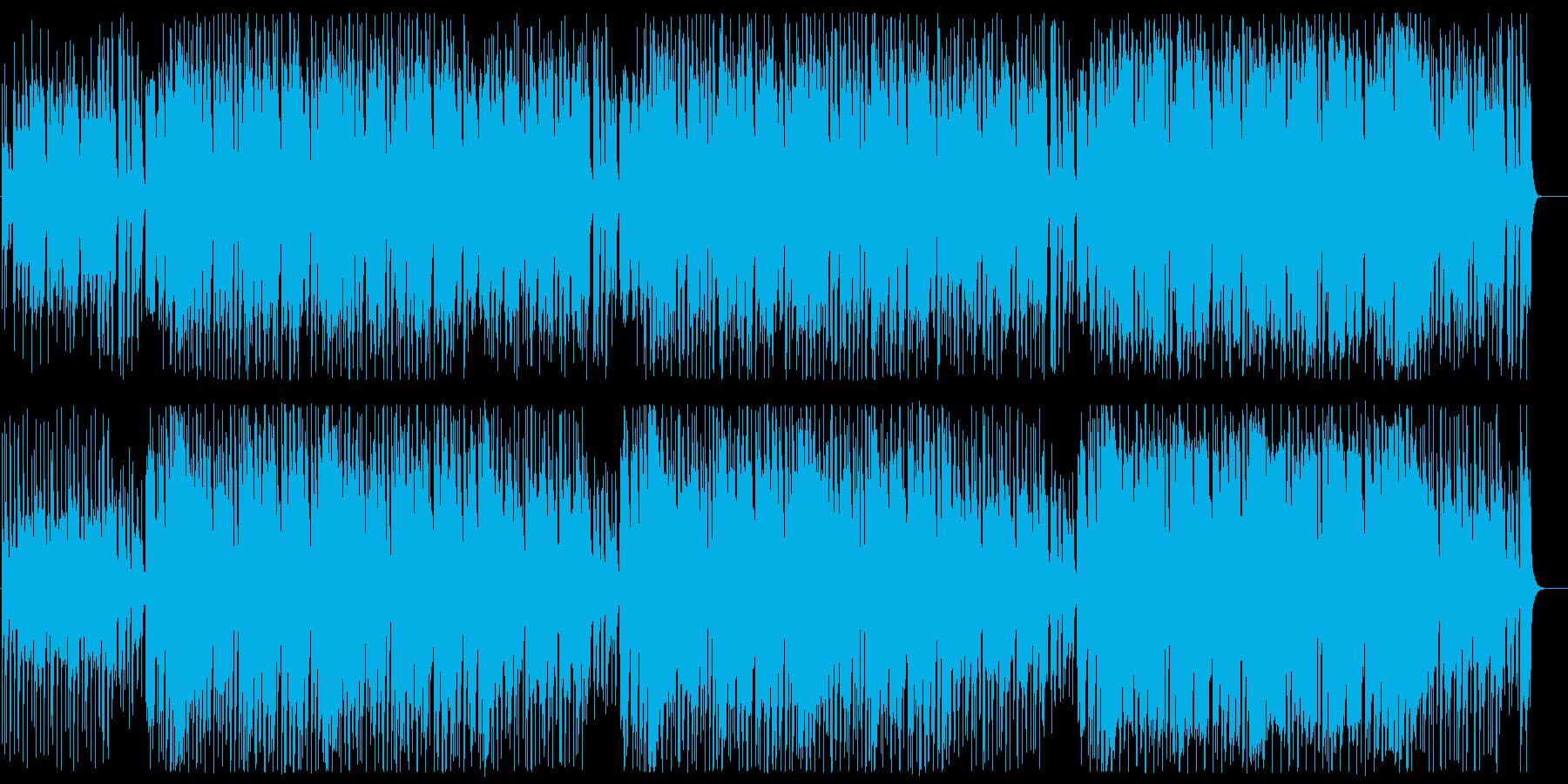 躍動感のあるお茶目なポップスの再生済みの波形
