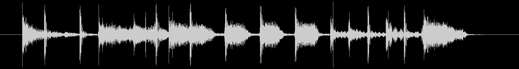 ブルージーなロックジングルの未再生の波形