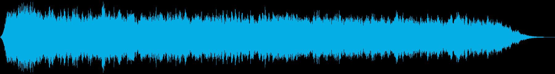 【ダークアンビエント】退廃的なBGMの再生済みの波形