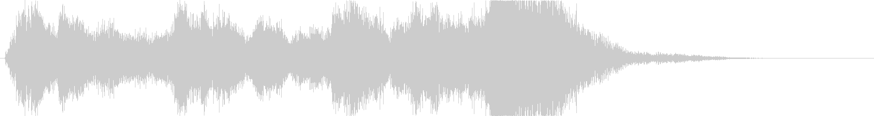 オーケストラによる壮大で明るいジングルの未再生の波形