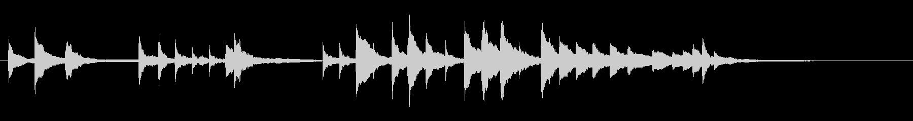 幻想的な終わり方のトロイメライ 25秒程の未再生の波形