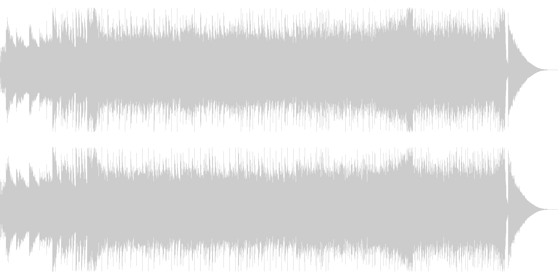 明朗でダイナミックなBGMの未再生の波形